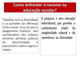 como enfrentar o racismo