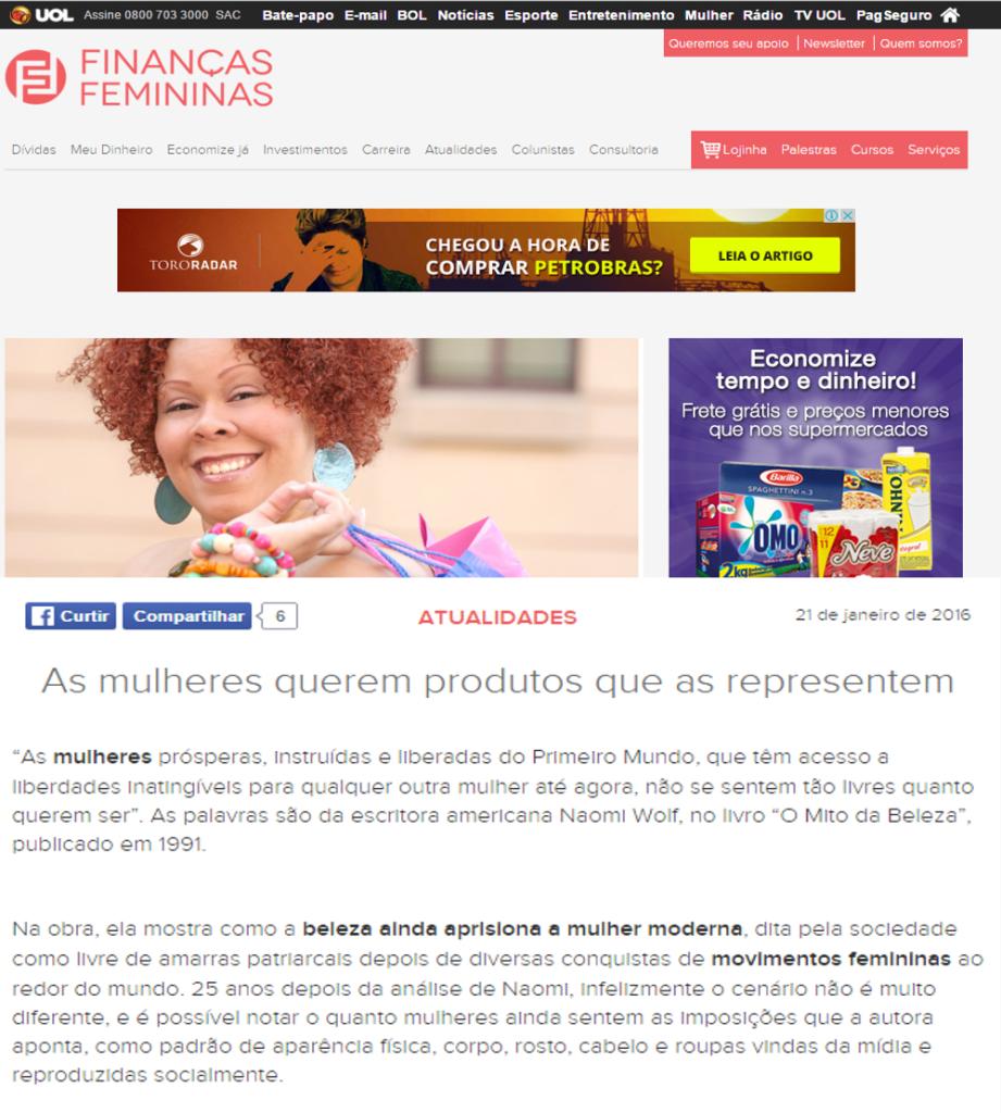 finanças femininas - capa