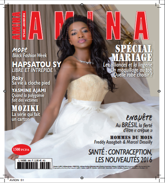 capa da revista amina