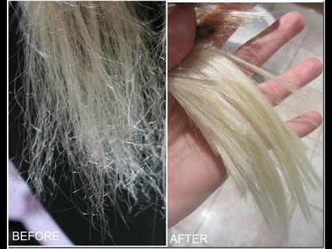 cabelo ressecado e tratado