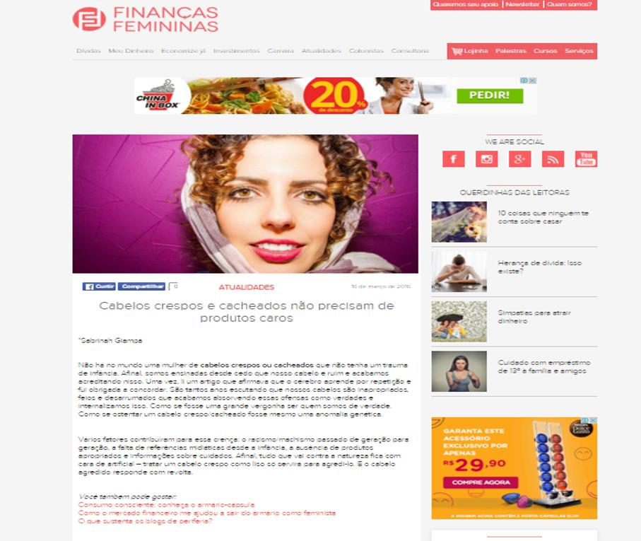 finanças femininas artigo