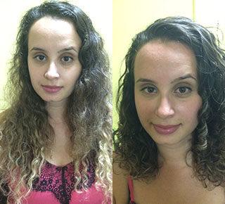 O antes e depois da Pamela Ferreira Luiz